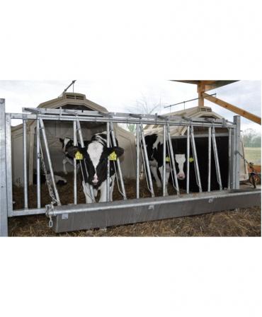Boxa comuna pentru 5-7 vitei, Calf-Tel MultiMAX, cu sina de transport, cu gard