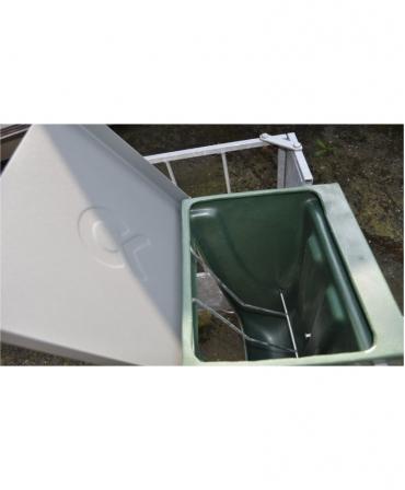 Caseta furaje cu iesle pentru fan, H&L, cu capacul deschis
