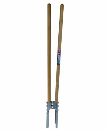Dispozitiv pentru plantat cu lame din otel carbon, manere din lemn lungi, Spear & Jackson Neverbend Professional, produs