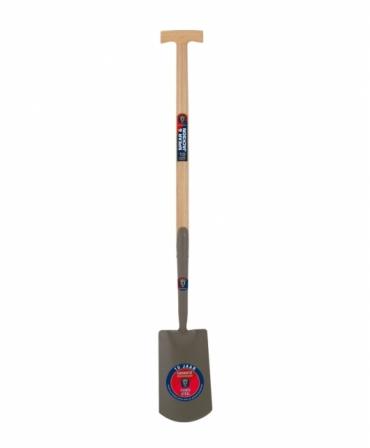 Cazma olandeza cu lama otel carbon, coada lemn lunga, maner T lemn, Spear & Jackson Neverbend Professional, produs