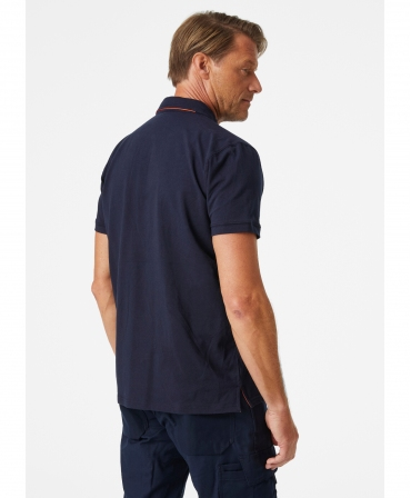 Tricou polo Helly Hansen Kensington, bleumarin, imbracat, spate