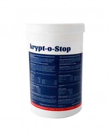 Supliment alimentar pentru prevenirea criptosporidiozei la vitei, Carton Krypt-O-Stop, cutie 1 kg, spate
