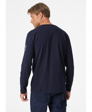 Bluza Helly Hansen Kensington Longsleeve, bleumarin, imbracata, spate