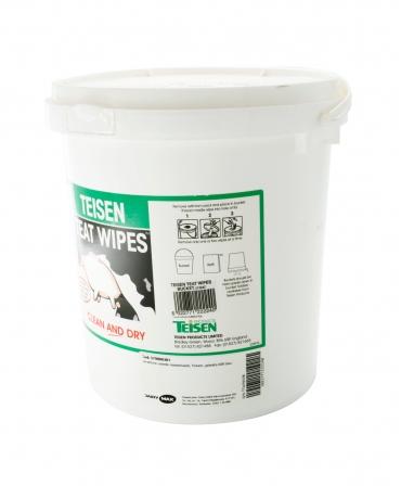 Servetele umede pentru dezinfectia mameloanelor Teisen Teat Wipes, galeata 600 bucati, galeata