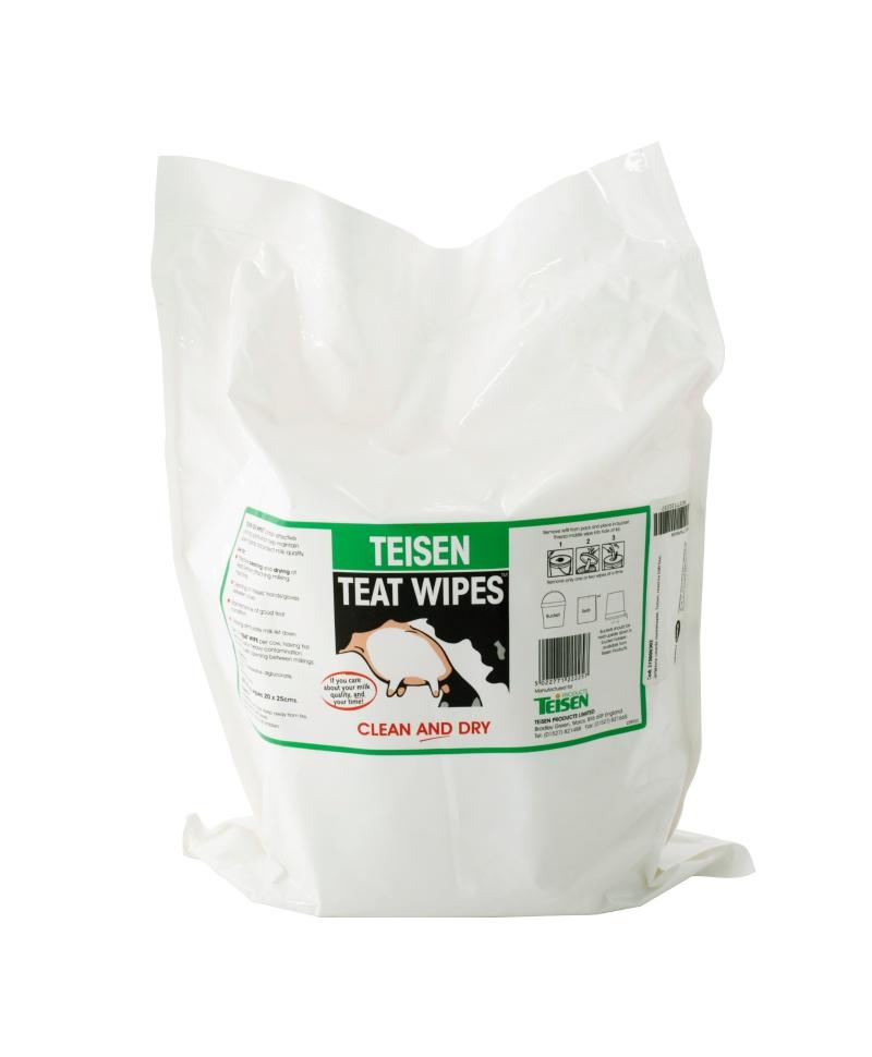 Servetele umede pentru dezinfectia mameloanelor Teisen Teat Wipes, rezerva 600 bucati, produs
