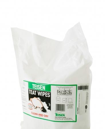 Servetele umede pentru dezinfectia mameloanelor Teisen Teat Wipes, rezerva 600 bucati, de aproape