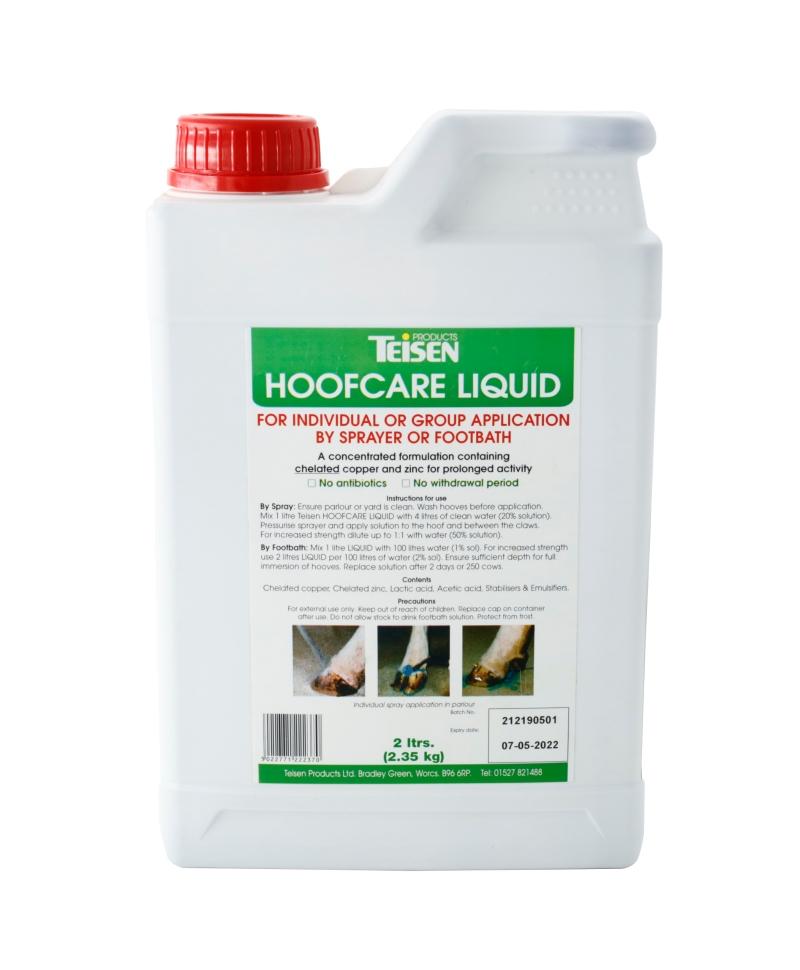 Solutie lichida pentru ingrijirea ongloanelor Teisen Hoof Care, bidon 2 l, produs