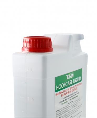 Solutie lichida pentru ingrijirea ongloanelor Teisen Hoof Care, bidon 2 l, gradare