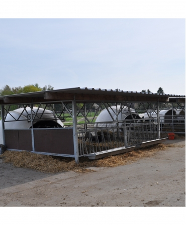 Veranda Igloo H&L, structura de baza fara acoperis, asezare