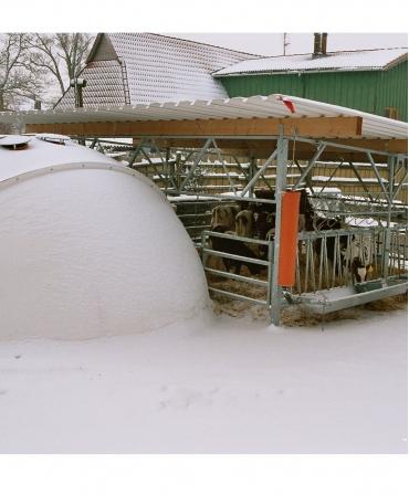 Veranda Igloo H&L, structura de baza fara acoperis, spate