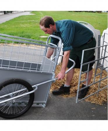 Dispozitiv transport vitei H&L Calf Buggy, folosire