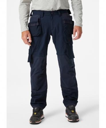 Pantaloni de lucru Helly Hansen Oxford Construction, bleumarin, imbracati, fata