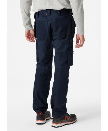 Pantaloni de lucru Helly Hansen Oxford Construction, bleumarin, imbracati, spate