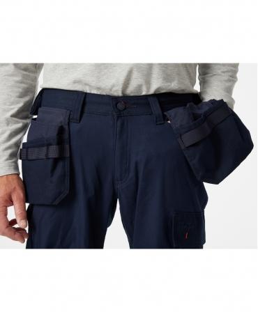 Pantaloni de lucru Helly Hansen Oxford Construction, detalii buzunare
