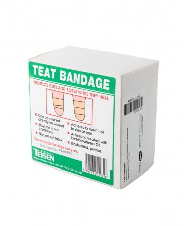 Rola bandaj pentru ingrijirea si tratamentul mameloanelor Teisen Teat Bandage, 6cm x 4,5m, profil