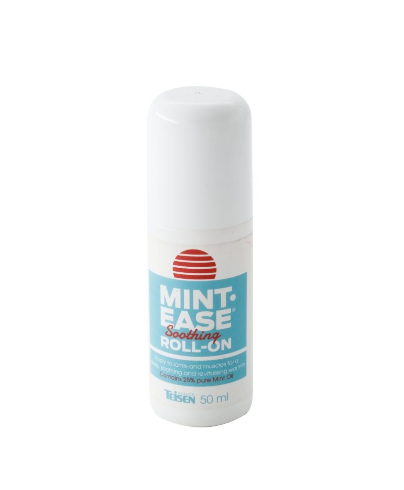 Solutie mentolata cu efect calmant pentru muschi si articulatii, Teisen Mint-Ease, roll-on 50 ml, produs