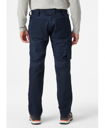 Pantaloni de lucru Helly Hansen Oxford Service, bleumarin, imbracati, spate