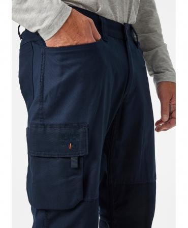 Pantaloni de lucru Helly Hansen Oxford Service, bleumarin, imbracati, din profil