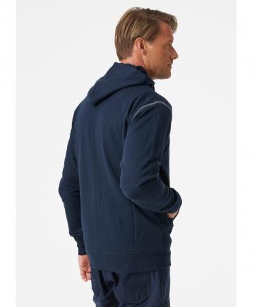 Hanorac cu gluga Helly Hansen Oxford Full Zip, bleumarin, imbracat, spate