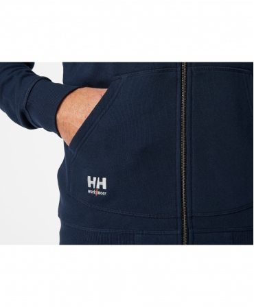 Hanorac cu gluga Helly Hansen Oxford Full Zip, logo HH Workwear