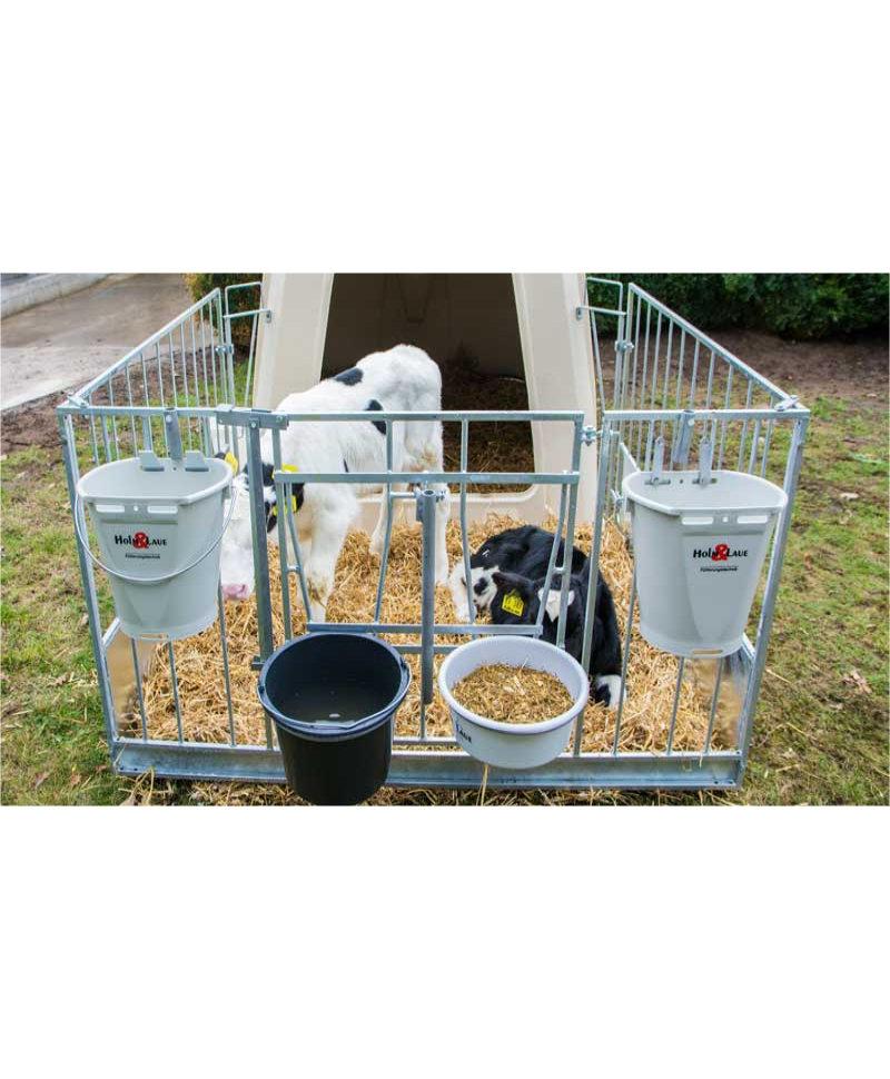 Gard metalic FlexyFence H&L pentru boxa comuna vitei Calf-Tel TwinHutch