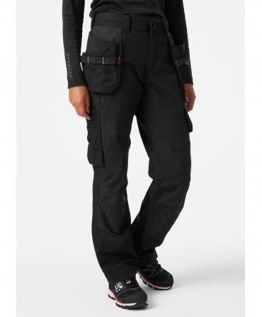 Pantaloni de lucru dama Helly Hansen Luna Construction, negri, imbracati, din fata
