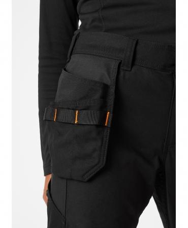 Pantaloni de lucru dama Helly Hansen Luna Construction, negri, buzunare