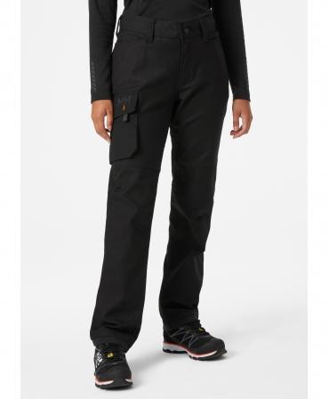 Pantaloni de lucru dama Helly Hansen Luna Service, negri, imbracati, din fata