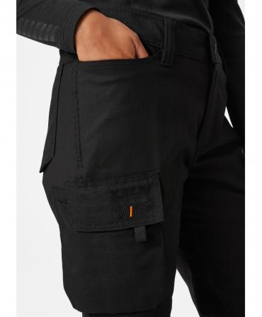 Pantaloni de lucru dama Helly Hansen Luna Service, negri, imbracati, buzunare