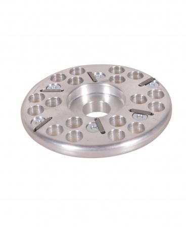 Disc trimaj ongloane 120 mm din aluminiu, inchis, cu 6 lame, KVK, produs