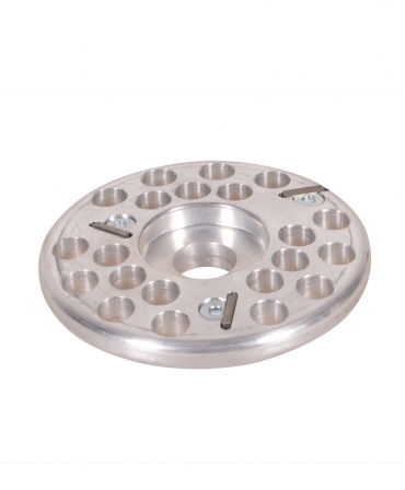 Disc trimaj ongloane 120 mm din aluminiu, inchis, cu 3 lame, KVK, produs