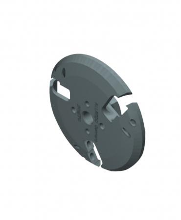 Disc trimaj ongloane 115 mm din aluminiu, deschis, cu 6 lame reversibile din titan, Allredo S30, produs
