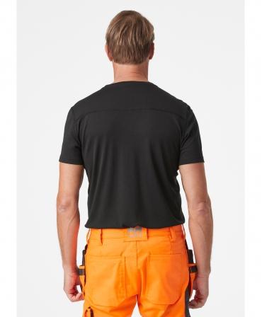 Tricou cu maneca scurta Helly Hansen Lifa Active, negru, imbracat, spate