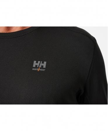 Bluza Helly Hansen Lifa Active Crewneck, neagra, logo