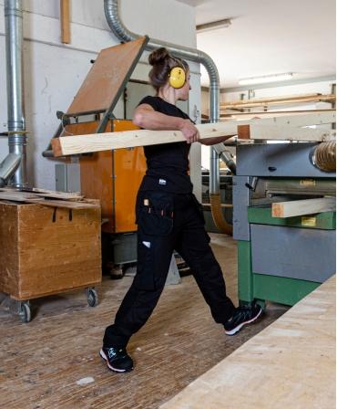 Tricou dama cu maneca scurta Helly Hansen Manchester, lucru cu lemn
