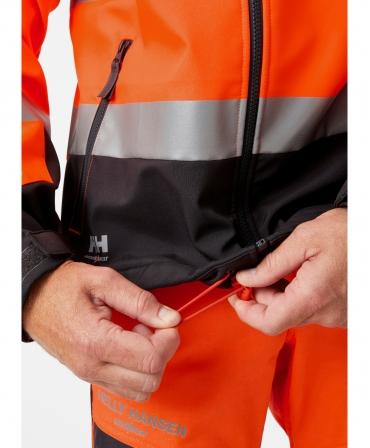 Jacheta Helly Hansen Alna Softshell, reflectorizanta, HVC2, 3, portocaliu/negru, tiv ajustabil