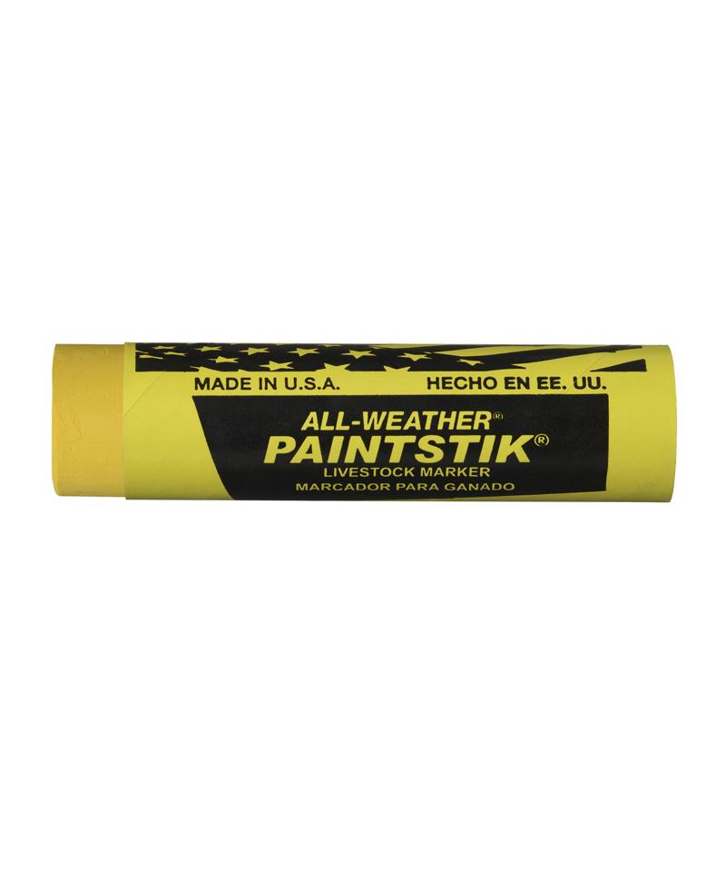 Baton galben vopsea temporara pentru marcarea animalelor, All-Weather Paintstick