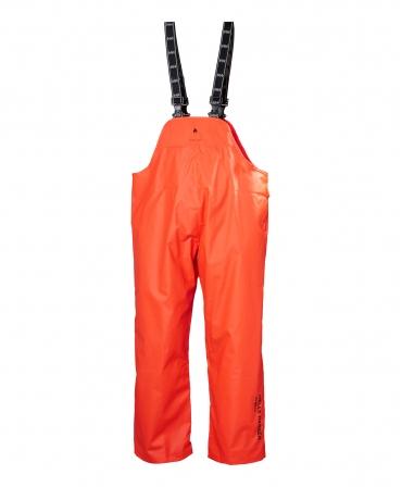 Pantaloni de lucru cu bretele Helly Hansen Horten, antifoc, impermeabili, portocalii, fata
