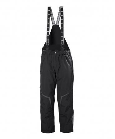 Pantaloni de lucru cu bretele Helly Hansen Kiruna, negri, fata