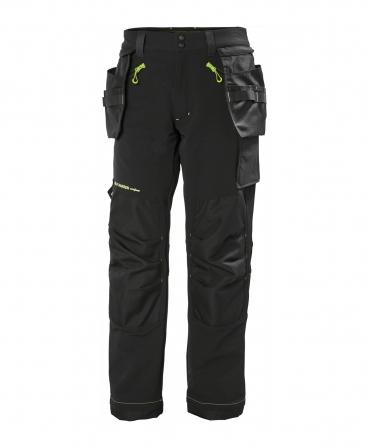 Pantaloni de lucru Helly Hansen Magni Construction, negri, fata