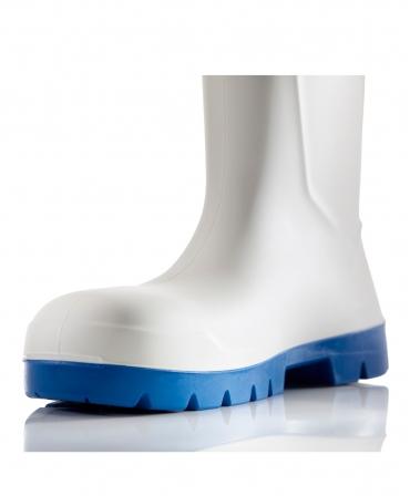 Cizme protectie Bekina Steplite EasyGrip, S4, alb/albastru, talpa din profil