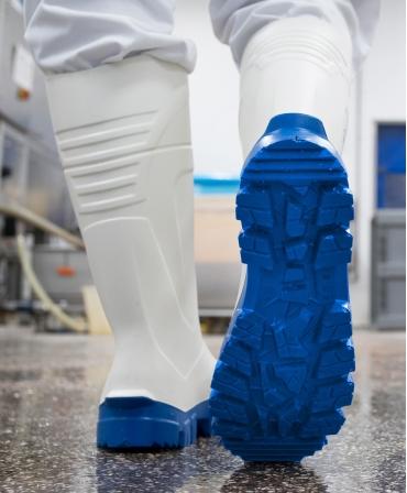 Cizme protectie Bekina StepliteX ThermoProtec, S4, alb/albastru, in fabrica, talpa