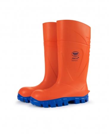 Cizme protectie Bekina StepliteX ThermoProtec, S5, portocaliu/albastru, din profil