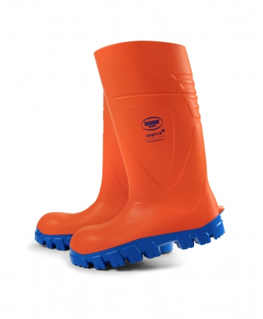 Cizme protectie Bekina StepliteX ThermoProtec, S5, portocaliu/albastru, din lateral