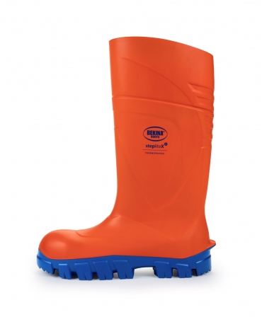 Cizme protectie Bekina StepliteX ThermoProtec, S5, portocaliu/albastru, dintr-o parte