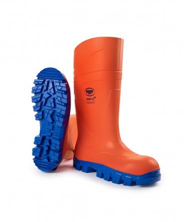 Cizme protectie Bekina StepliteX ThermoProtec, S5, portocaliu/albastru, din unghi