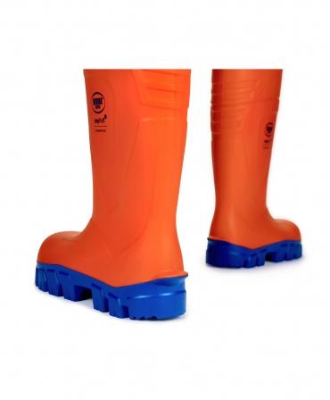 Cizme protectie Bekina StepliteX ThermoProtec, S5, portocaliu/albastru, din spate