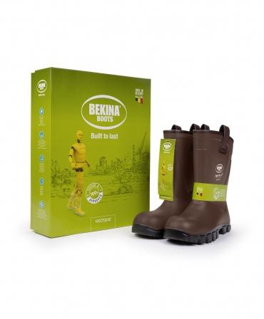 Cizme protectie Bekina RigliteX SolidGrip, S5, imblanite, maro/negru, cutie