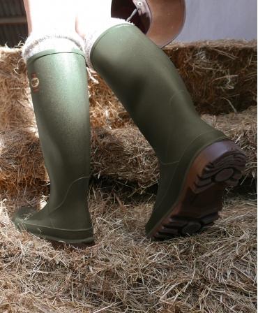 Cizme protectie Bekina Litefield, O4, verde/maro, in ferma