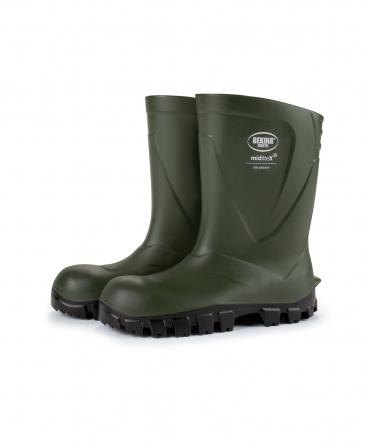 Cizme protectie Bekina MidliteX SolidGrip, O4, verde/negru, profil